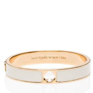 Kate Spade ♠️ NWT White/Gold Spade Bangle Bracelet
